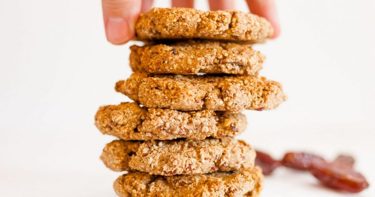 GALLETAS DE AVENA Y DÁTIL (VEGAN & SUGAR-FREE)